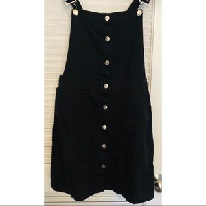 Divided Black Dress Overall Size 10